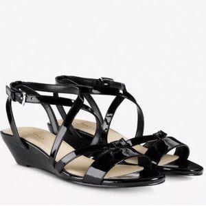 Cole Haan Black Kierin Wedge Sandal